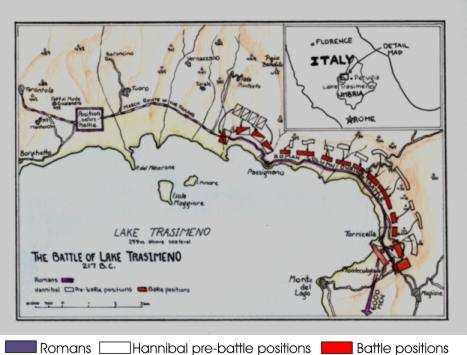 The Battle of Lake Trasimeno.